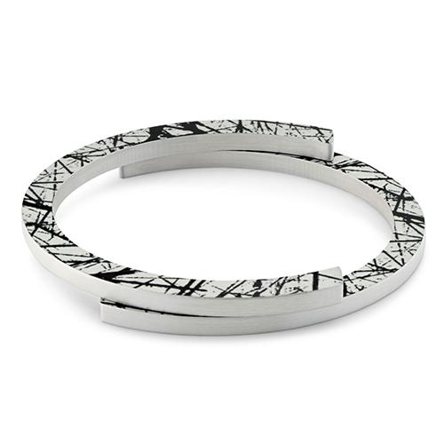 Luxe relatiegeschenken van Artihove - Geschenk Clic, armband zwart gestreept - CLCM001014 kopen van Artihove |  - CLCM001014