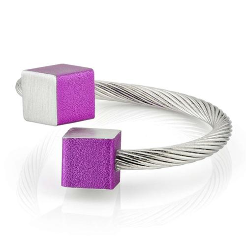 Luxe relatiegeschenken van Artihove - Geschenk Clic, ring blok paars - CLCM001037 kopen van Artihove    - CLCM001037