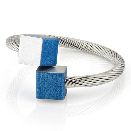 Luxe relatiegeschenken van Artihove - Geschenk Clic, ring blok blauw - CLCM001039 kopen van Artihove    - CLCM001039