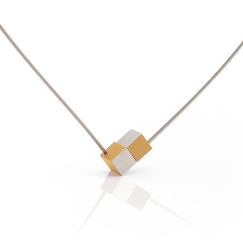 Luxe relatiegeschenken van Artihove - Geschenk Clic, collier blok geel - CLCM001043 kopen van Artihove |  - CLCM001043
