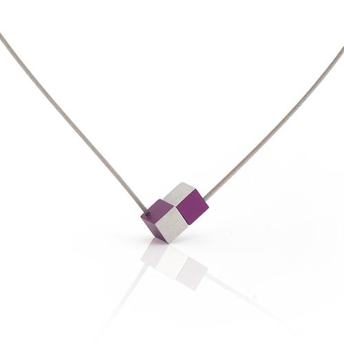 Luxe relatiegeschenken van Artihove - Geschenk Clic, collier blok paars - CLCM001044 kopen van Artihove |  - CLCM001044