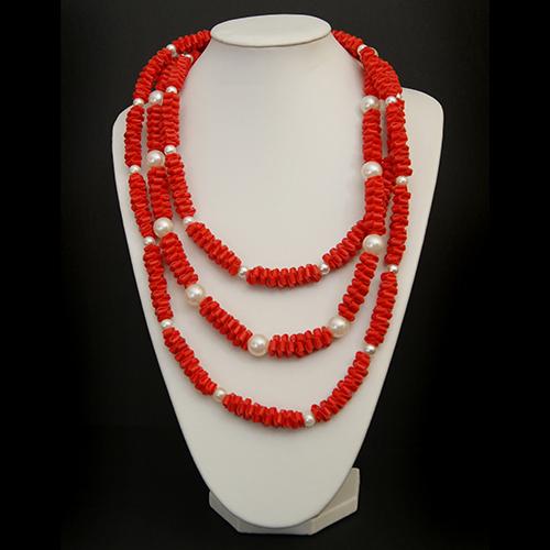 Luxe relatiegeschenken van Artihove - Geschenk Tjon a ten, ketting rood/ parels - EVIM000001 kopen van Artihove |  - EVIM000001