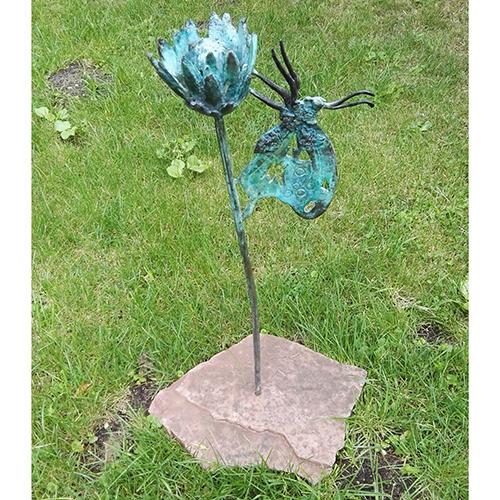 Luxe relatiegeschenken van Artihove - Geschenk Kok, vlinder met bloem - KOKM400510 kopen van Artihove | Alle tuinbeelden - KOKM400510