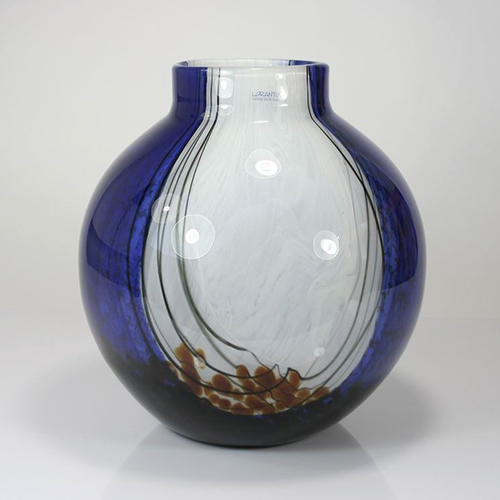 Luxe relatiegeschenken van Artihove - Geschenk Loranto, vaas glas blauw - LOR001027 kopen van Artihove |  - LOR001027