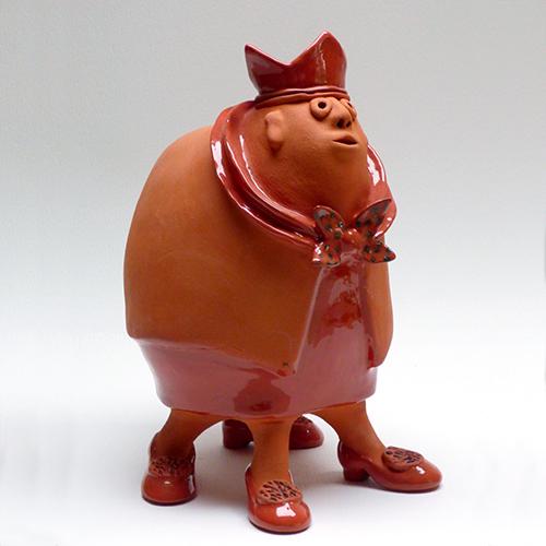 Luxe relatiegeschenken van Artihove - Geschenk Van der wel, oranje koningin - WELM001042 kopen van Artihove   Keramische sculpturen - WELM001042